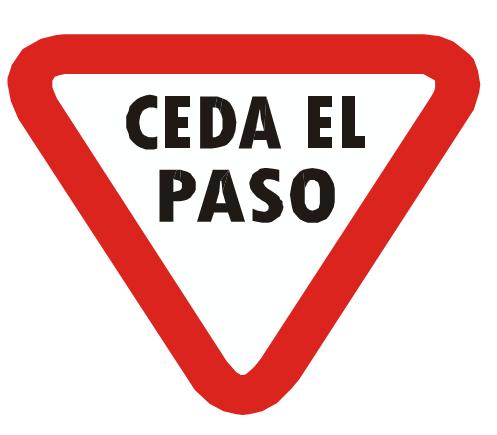 Resultado de imagen de señales de trafico ceda el paso